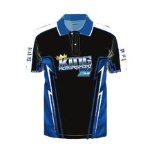 OEM service high quality two buttons polo shirt sublimation custom pit crew shirts