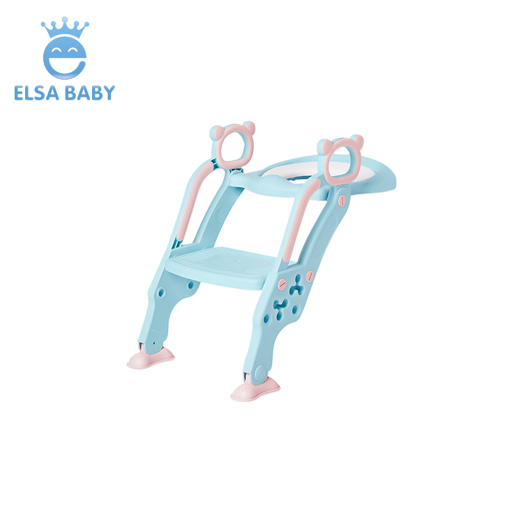 Hot sale lovely folding portable plastic toilet chair potty training ladder for <strong>baby</strong>