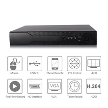 4 channel 1080P AHD DVR realtime record and playback network video recorder DVR