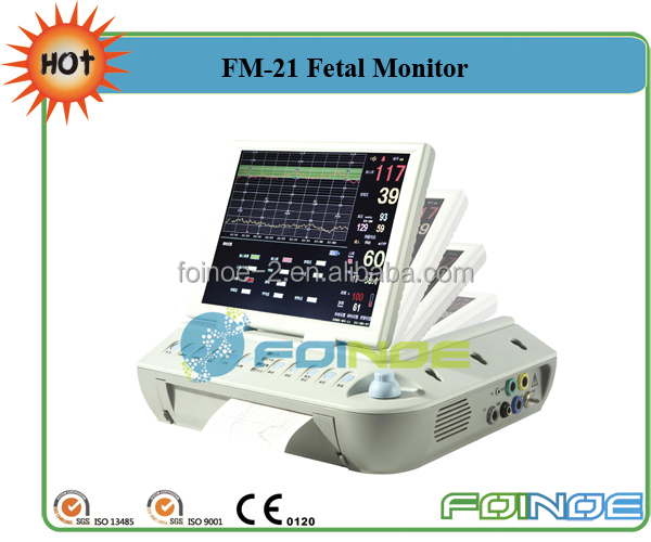 FM-21 Medical Baby Product Fetal Monitor Cardiac Monitoring Equipment with CE