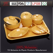 Factory supply high class reusable plastic dinnerware