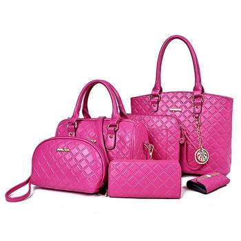 D-020 hot selling handbags ladies 2018 fashion six pieces handbag set from  china fashion used ladies handbags sets wholesale 30c750dc340a8