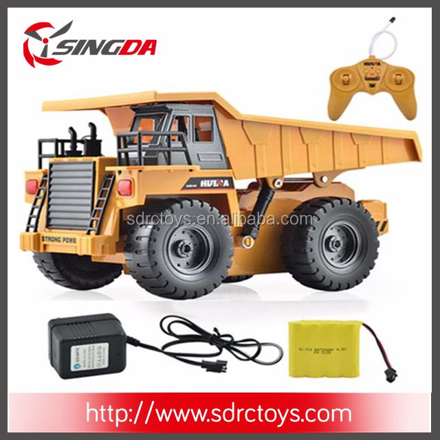 Hot Sale 1540 6CH 1/12 40HMZ RC Metal Dump Truck Remote Control Toys RTR With Charging Battery