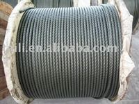 Ungalvanized Wire Rope 6x24+7FC for fishing