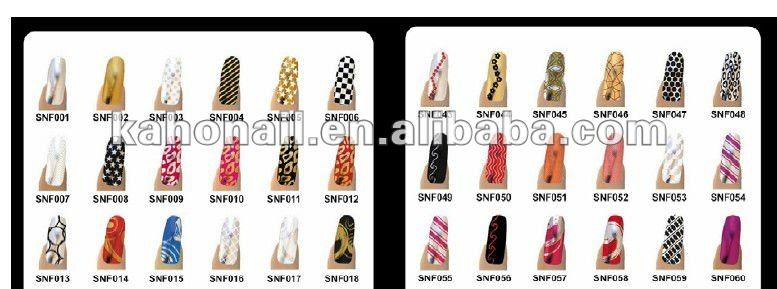 2013 Yiwu china kaho most popular nail foil sticker for nail