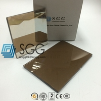 Coated Glass Factory 4mm Euro bronze reflective glass price