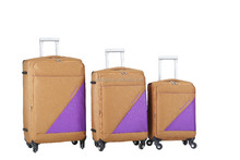 High quality travel luggage trolley bags with 4 wheels