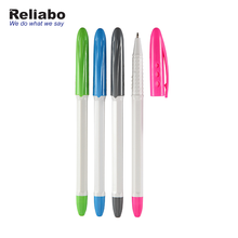 Reliabo Hot Selling Stationery Multi Colors Cheap Plastic Ball Pen With Contoured Grip Zone
