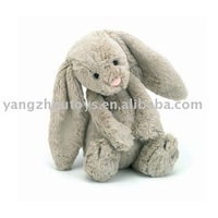 good quality soft plush classical bunny rabbit toy in grey color