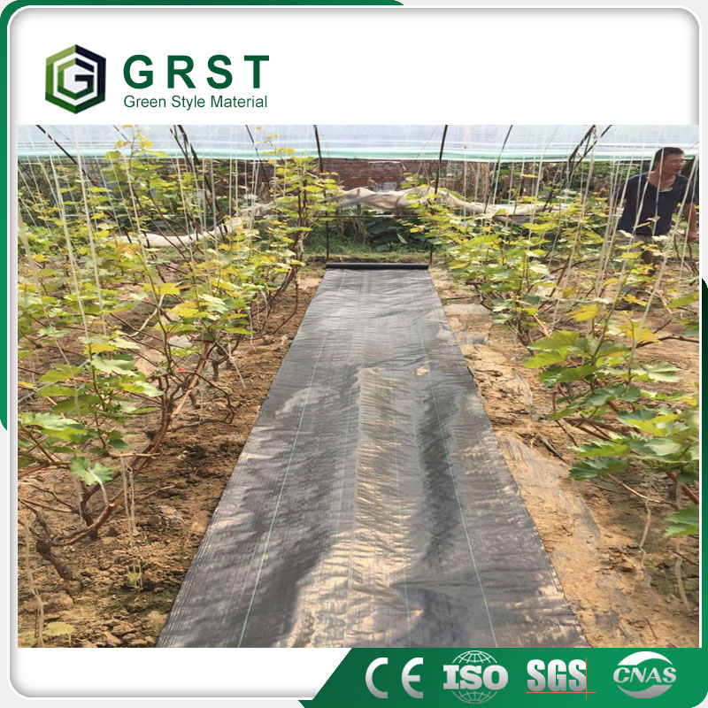 PP woven Black Mulching Film/Weed Control Fabric/Black Ground Cover