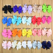20colors baby ribbon bows with clip Baby Girl Hair Bows Clips Baby Boutique bows hair pins