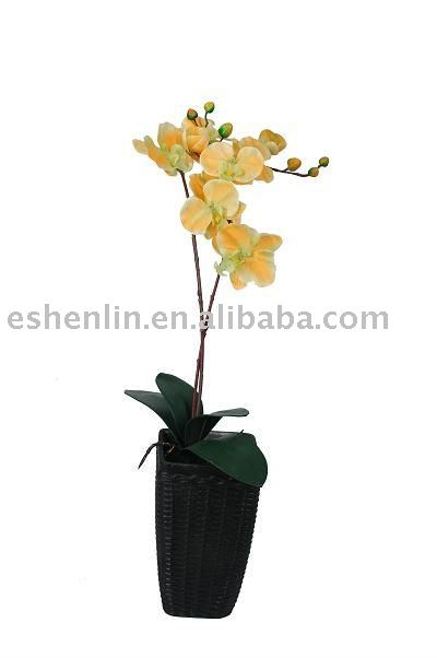 artificial/imitation/plastic/man-made silk orchid flower