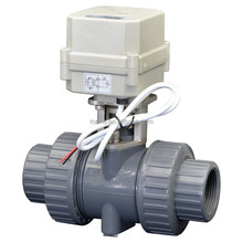 electric motorized PVC ball valve PVC motor operated valve actuator