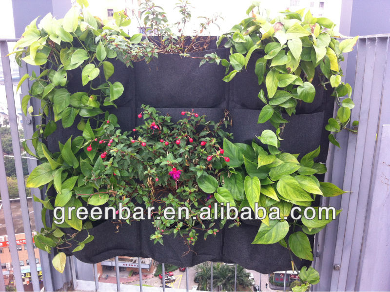 decorative plant holders--Autumn green wall landscape design
