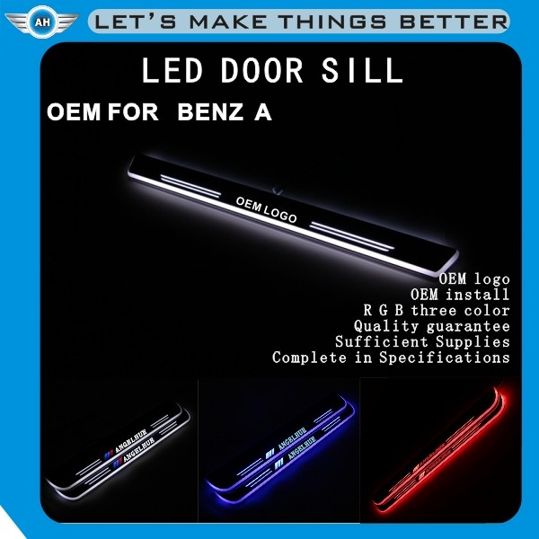 LED Strip light Auto Accessories /car welcome pedal sill plate/ LED Moving Door Sill for BEN-Z G500