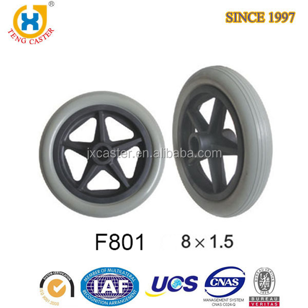 "Five Star Shape Strong 8"" PU Foam Air Compressor Wheels"