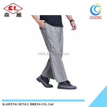 summer relaxation casual pants, mens loose fit pants, straight-leg pants
