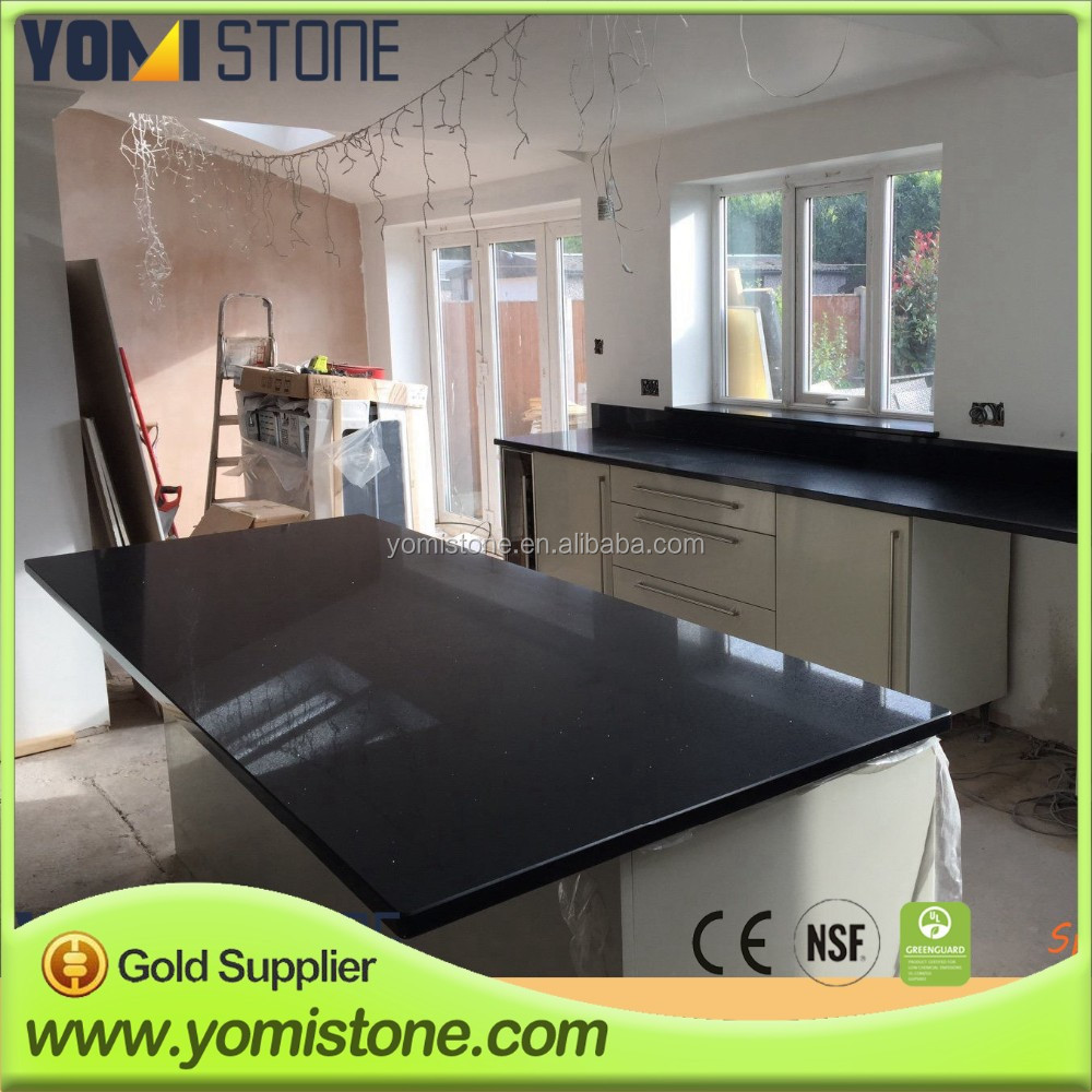 Artificial Stone Absolute White Quartz Top For Kitchen