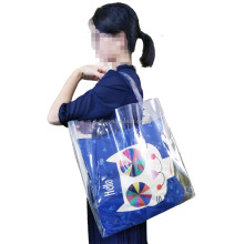 Women Summer Beach Bag Vinyl PVC Transparent Small Tote Handbags Shopping Shoulder Bags