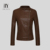 2017 spring Wholesale Custom Fashion With Hoodies Quality European Brown Women PU Leather Jacket