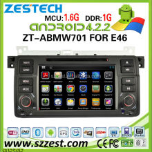 ZESTECH car dvd for bmw e46 M3 dvd android 4.2.2 dual core capacitive multi touch screen