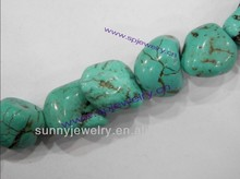 wholesale turquoise nuggets, many colors for choice, 16-inch per strand
