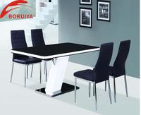 dining room furniture MDF glass dining table dinning table set