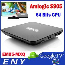 MXQ Android TV Box 5.1 Amlogic S905 2.0ghz Smart TV Box with SDRAM 1G And Flash 8GB Kodi 15.2 Fully Loaded