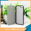 Hot 2D sublimation blank flip case for iPhone 6/6s with metal inserts