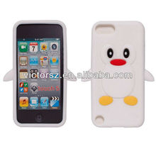for Apple iPod Touch 5 White Penguin Design Silicone Case
