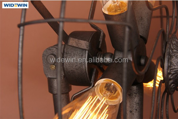 Industrial Fan Table Lamps For Sitting Room Dining Room