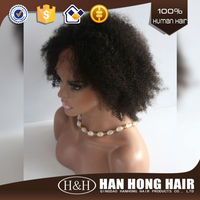 nature full cuticle unprocessed afro full lace human hair wigs for men