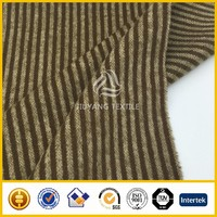 High quality 2016 stripe overcoating wool fabric/woolen fabric