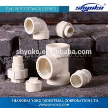 Manufacturer Good quality PVC BSPT THREAD PIPE FITTINGS PVC Male & Female Elbow PLASTIC PIPE FITTINGS
