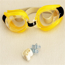 New Anti Fog UV Swimming Goggle Adjustable Glasses With Nose Clip+Ear Plug for Child adult Free shipping
