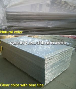 Super clear PVC sheets with PE protective film