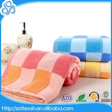 alibaba express china oem comfortable wholesale 100% cotton yarn died bath towel