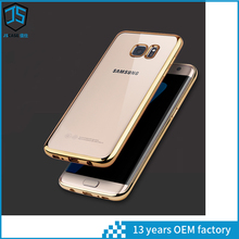 2017 trending mobile phone cover for samsung s7 edge phone case gold