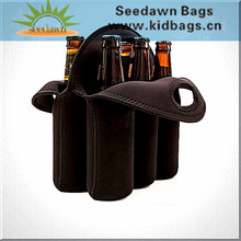 6 Packs Neoprene Wine Carrier Cooler Bag with Two Handles Carrying Six Wine Bottles