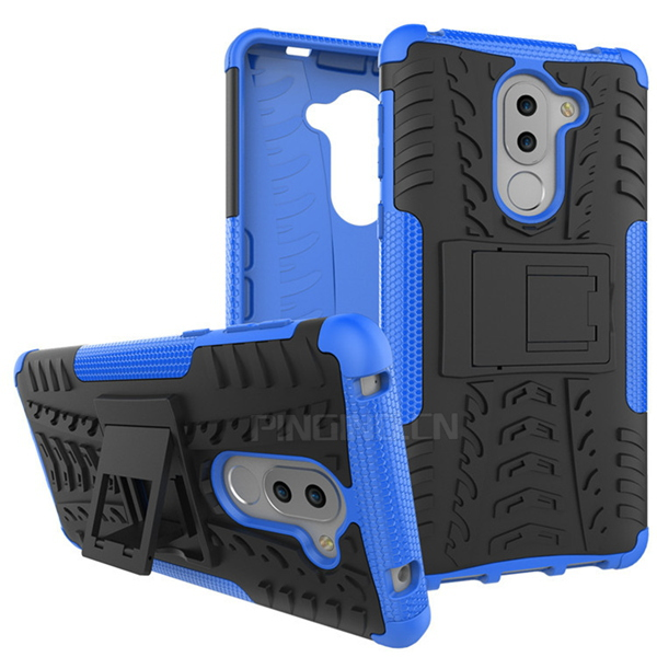 low price tire texture hybrid hard cover case for huawei gr5 2017 , kickstand case for huawei gr5 2017