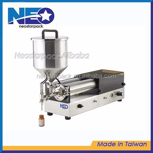 Tabletop Piston Pump Liquid, oil, lotion, sauce filler/ Filling Machine for cosmetics, beverage, food