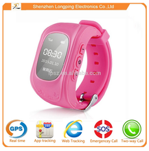 2015 mini gps tracker kids watch phone oem for IOS and Android system for children