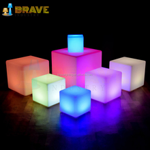 Waterproof IP65 LED Furniture Cube 40*40*40cm Party LED Cube Chair,anti stress cube