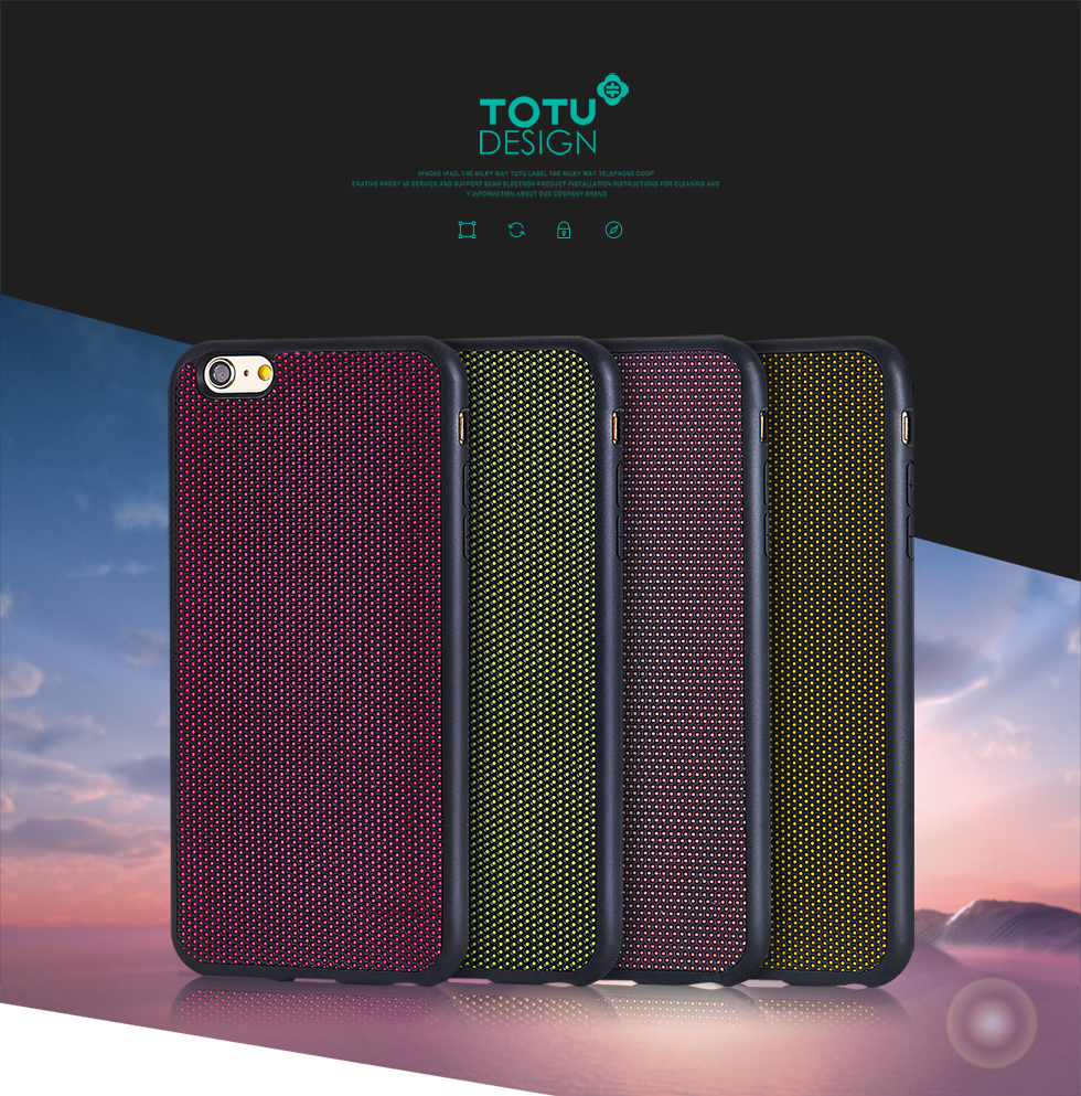TOTU Case For iPhone 6S Plus 5.5'',TOTU Series TPU+Fluorescent Cloth+Silicone Back Case Cover For iPhone 6S Plus 5.5'' PT-063-1