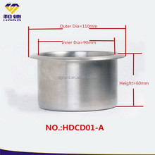 Stainless steel cooling cup holder for sofa