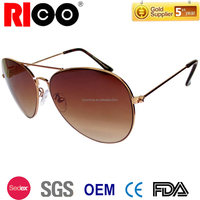 Cheap custom mirror aviator sunglasses with colorful lens