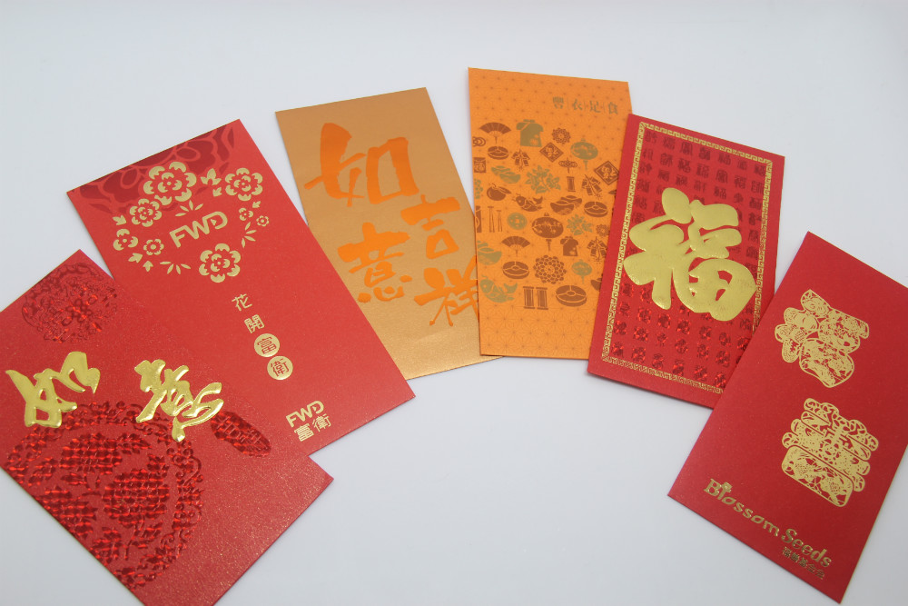 Chinese new year red packets custom made red envelope