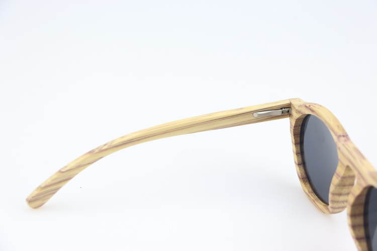 Coloful bamboo sunglasses uv400 grey polarized lens