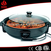 alibaba express Glass Pizza Pan with non-stick surface, Multi Cooker, High Quality Electric Round Grill Pan