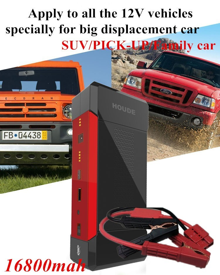 2016 Oem Wholesale Car Jump Starter , 12v Mini Car Jump Starter